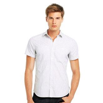 美國百分百【全新真品】Armani Exchange 襯衫 AX 短袖 上衣 休閒 白 印花 十字 S M號 E254