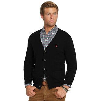 美國百分百【全新真品】Ralph Lauren 針織衫 RL 外套 罩衫 夾克 Polo 小馬 黑 L XL號 C080