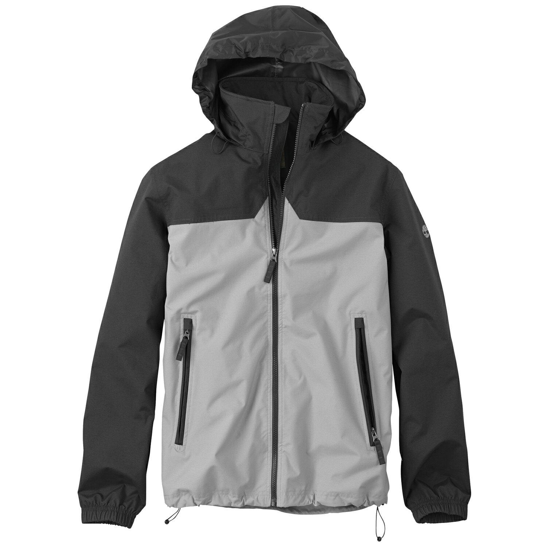 美國百分百【Timberland】 外套 連帽外套 夾克 灰色 防水 機能 耐磨 出國 男衣 戶外 S M號 E265