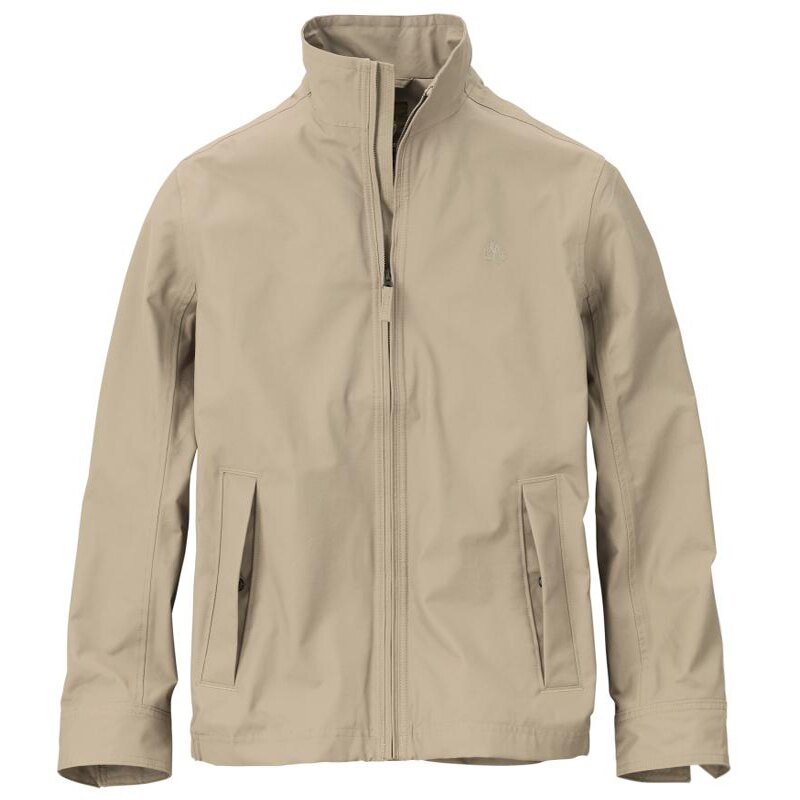 美國百分百【Timberland】 外套 立領 夾克 防水 防風 機能 耐磨 戶外 出國 卡其色 S號 E267
