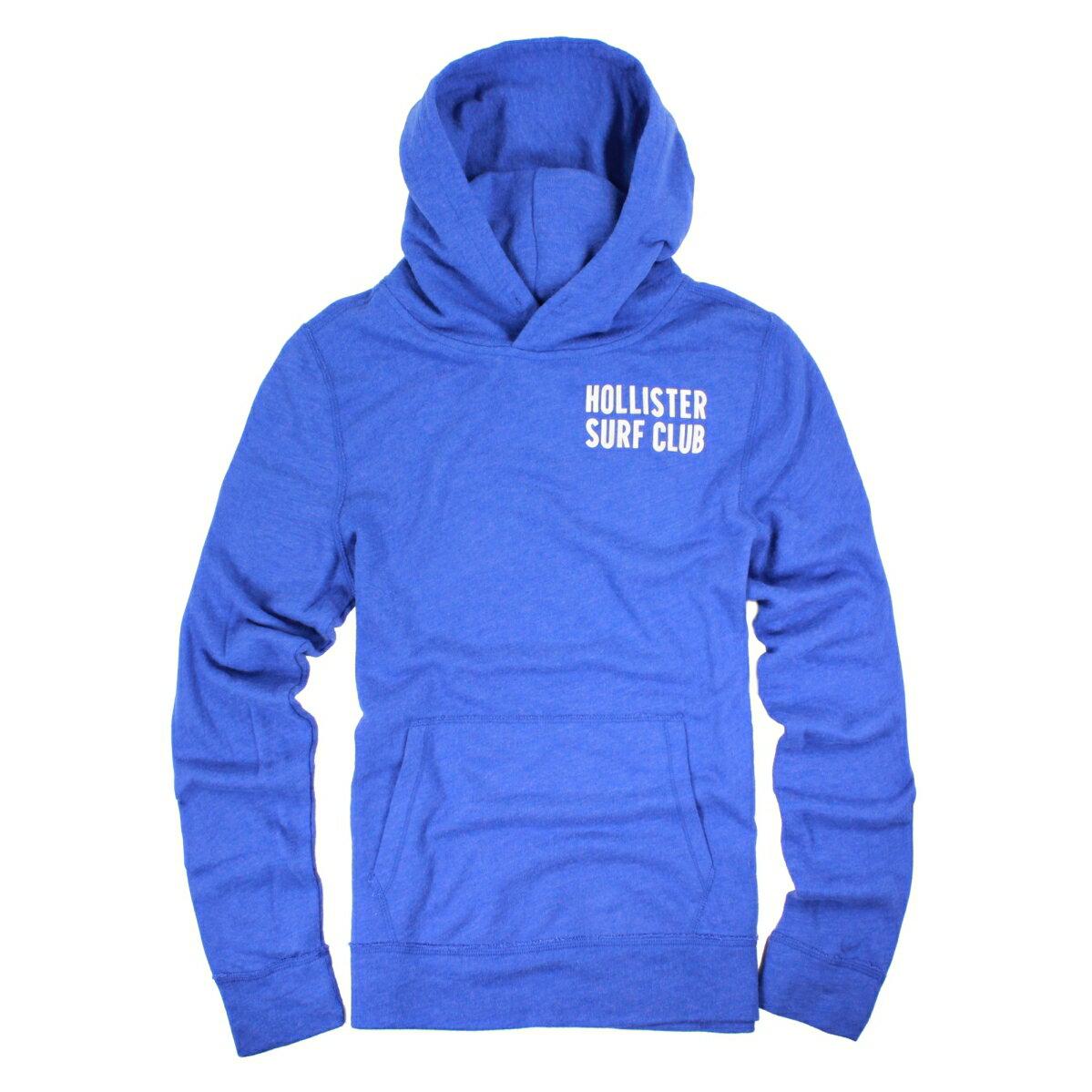 美國百分百【全新真品】Hollister Co. T恤 HCO 長袖 T-shirt 海鷗 連帽 M號 寶藍 E279