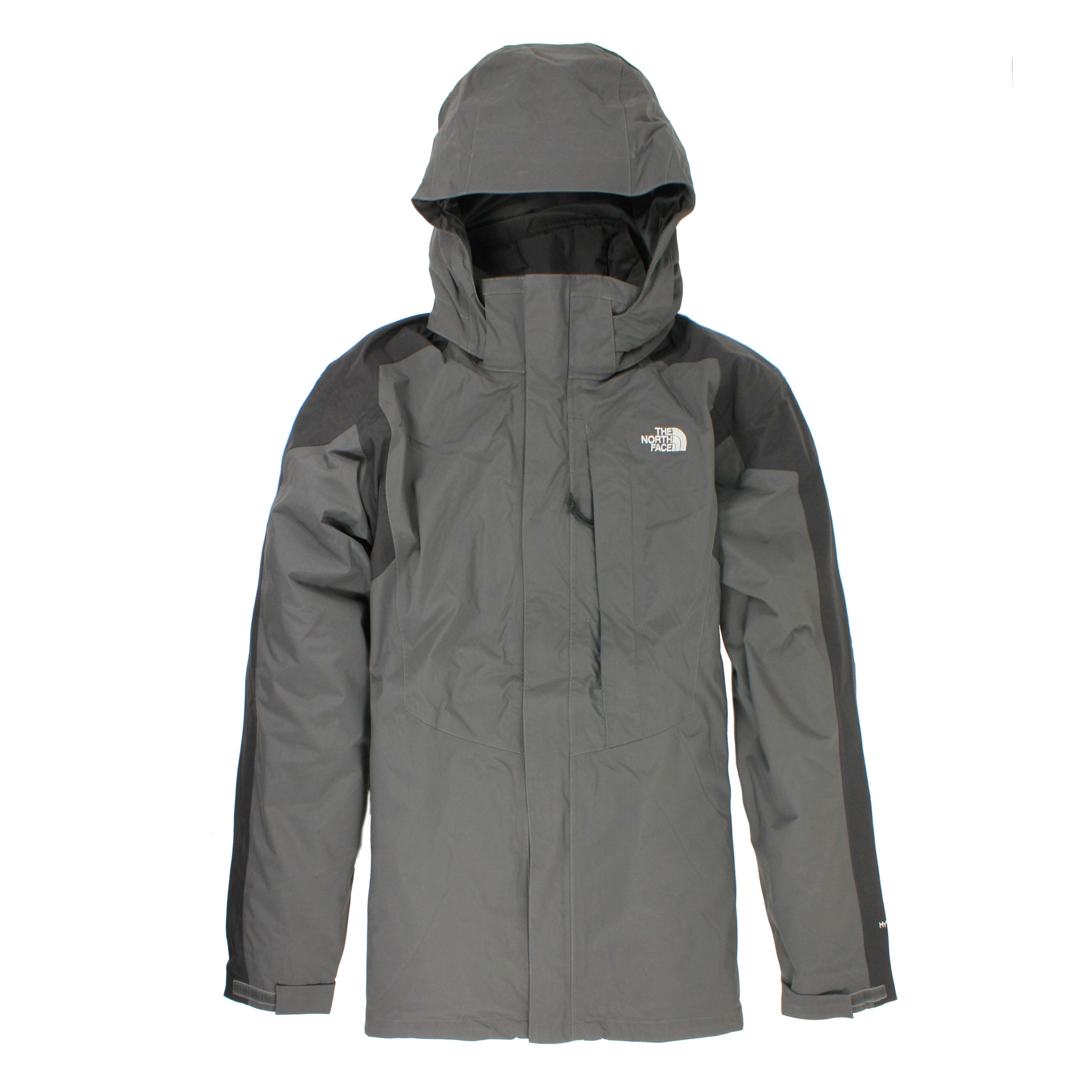 美國百分百【The North Face 】外套 TNF 夾克 防水 防風 保暖 北臉 兩件式 XL 灰黑 E291