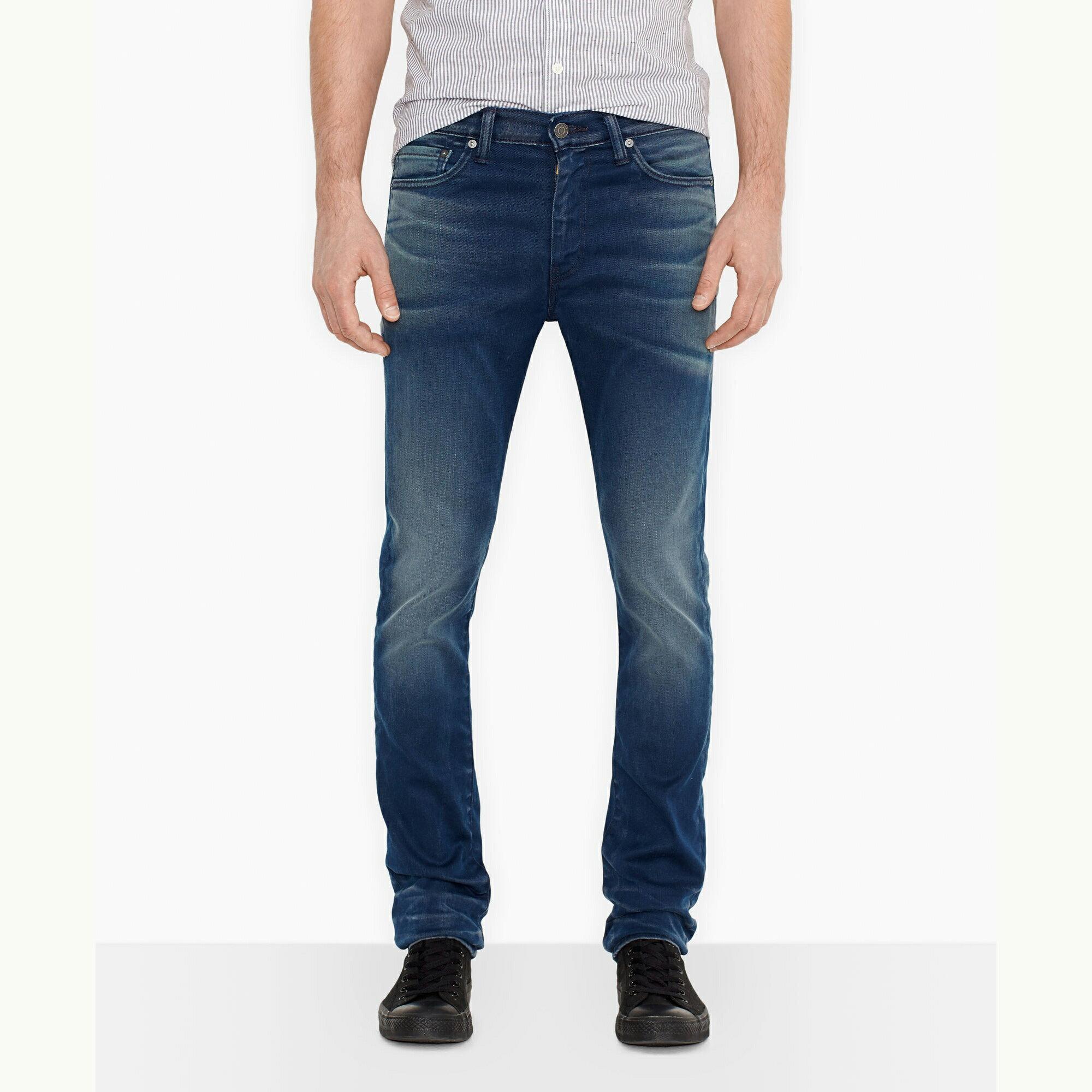 美國百分百【Levis】510 Skinny Fit 男款 牛仔褲 直筒 合身 窄版 30 32 34腰 藍 E283