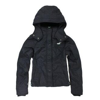 美國百分百【全新真品】Hollister Co. HCO 海鷗 女 深藍 休閒 鋪棉 保暖 連帽 外套 S M E337