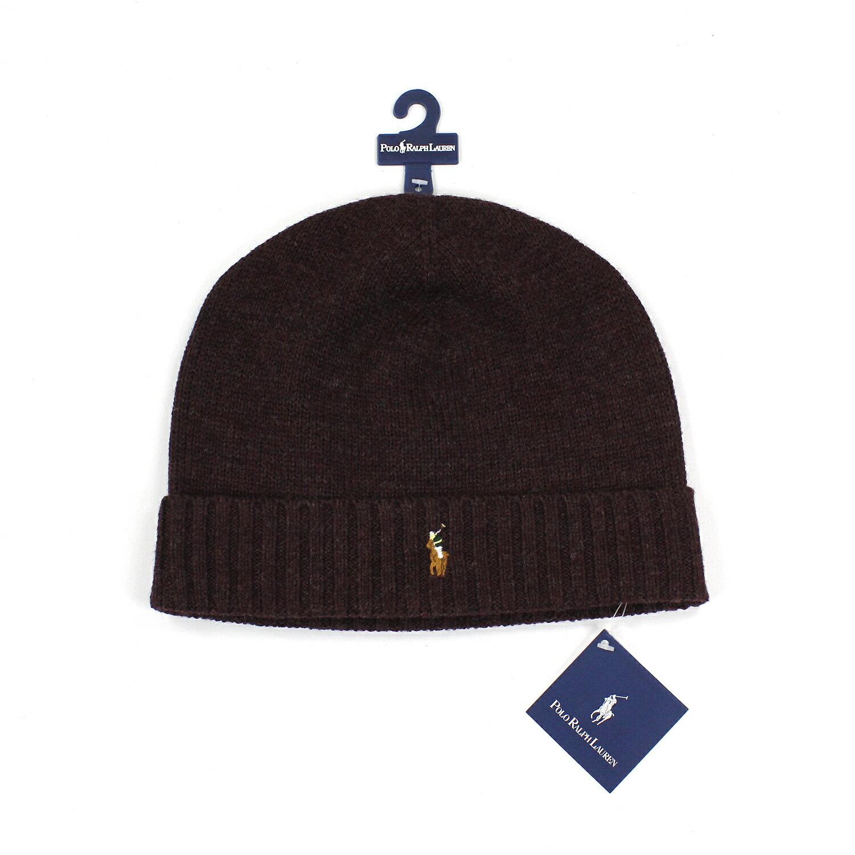 美國百分百【全新真品】Ralph Lauren 彩馬 羊毛 毛線帽 針織 毛帽 配件 男 RL Polo 深紅 B351