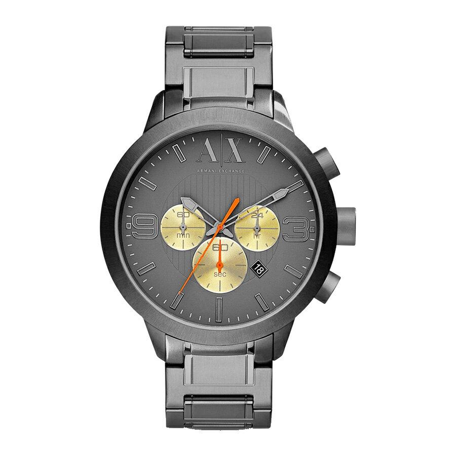 美國百分百【Armani Exchange】配件 AX 手錶 運動 三眼 腕錶 金屬 大錶面 阿曼尼 不鏽鋼 E343
