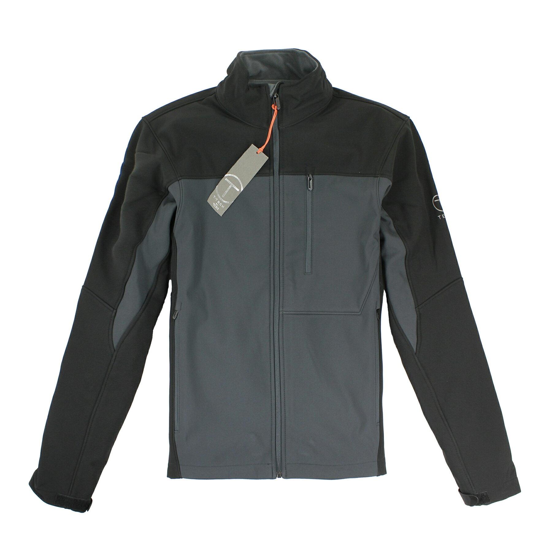 美國百分百【全新真品】Tumi 外套 立領 T-tech 防水 防風 軟殼 鋪棉 刷毛 黑 灰 S M XL E353