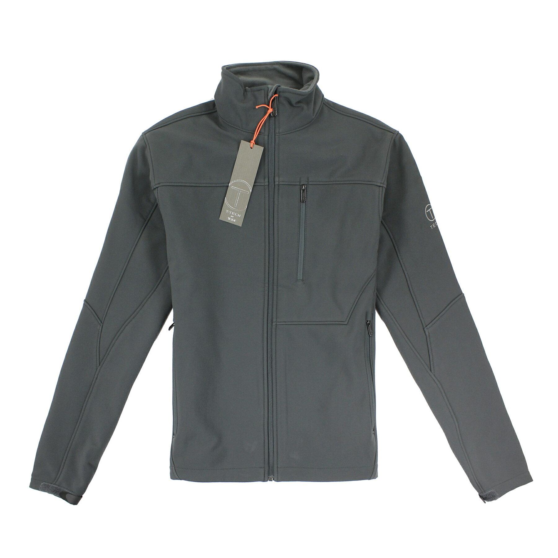 美國百分百【全新真品】Tumi 外套 立領 T-tech 防水 防風 軟殼 鋪棉 刷毛 灰色 S XL號 E352