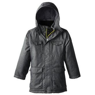 美國百分百【全新真品】Calvin Klein CK 男 保暖 防寒 防風 防潑水 外套 夾克 深灰色 S號 E355