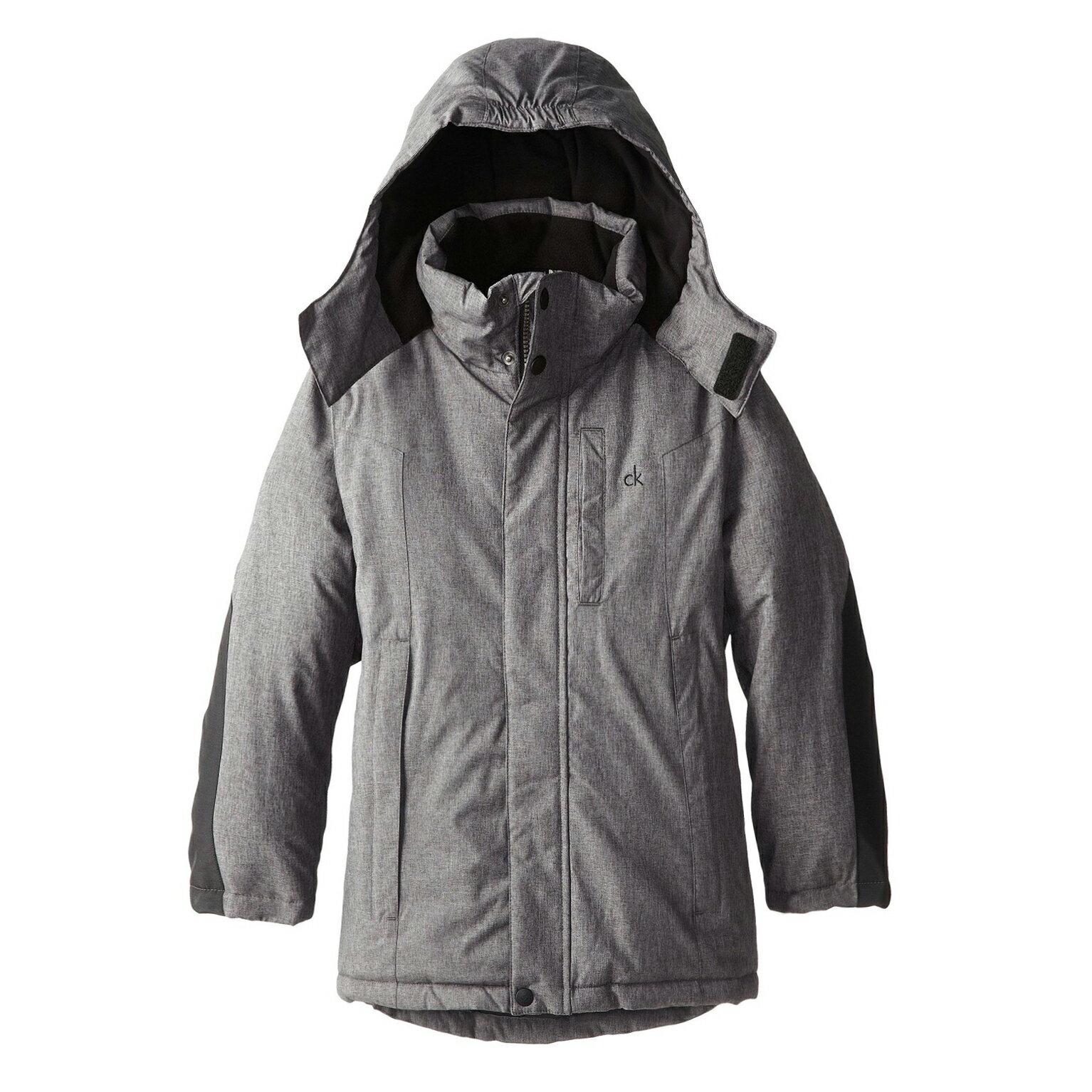 美國百分百【全新真品】Calvin Klein CK 男 保暖 防寒 防風 防潑水 外套 夾克 灰色 S號 E356