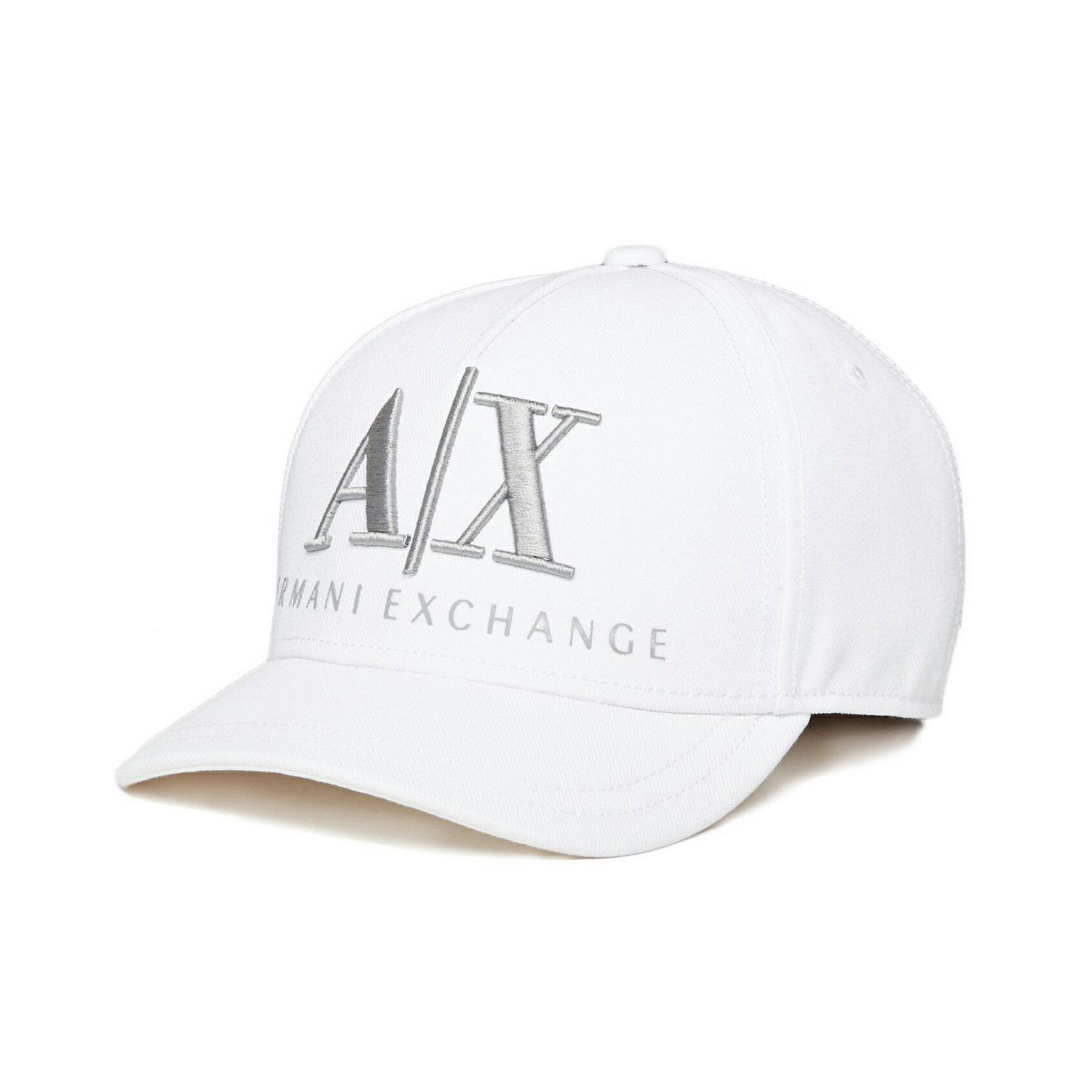 美國百分百【全新真品】Armani Exchange 鴨舌帽 棒球帽 AX 帽子 漁夫帽 LOGO 白色 E378