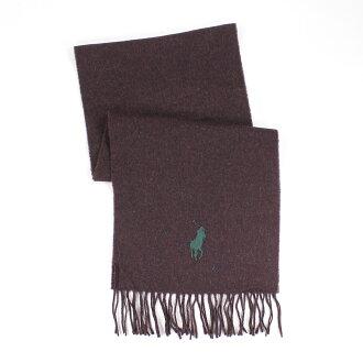 美國百分百【全新真品】Ralph Lauren 圍巾 RL 配件 咖啡 男 女 Polo 大馬 羊毛 柔軟 E367