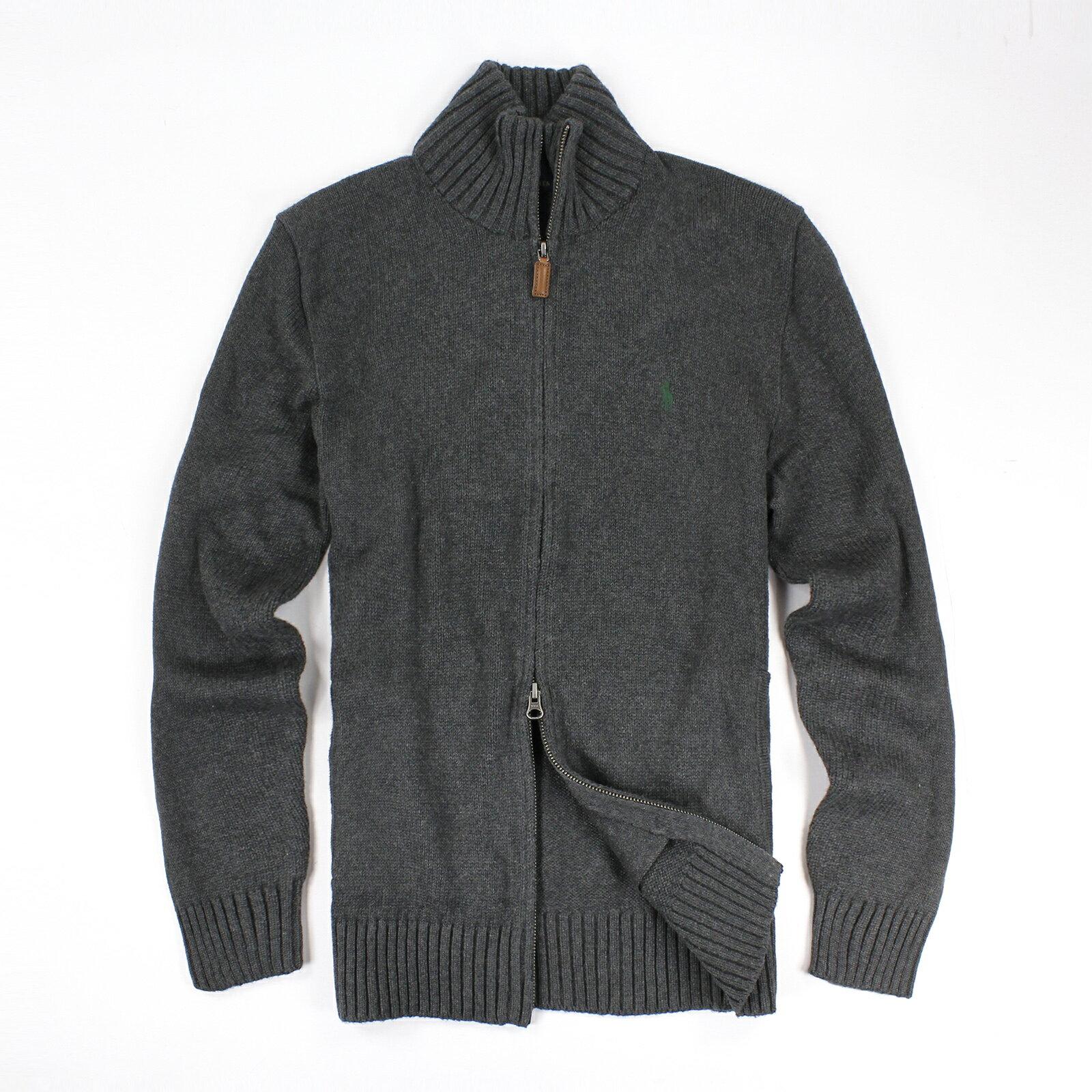 美國百分百~ ~Ralph Lauren 針織衫 RL 線衫 夾克 Polo 小馬 深灰