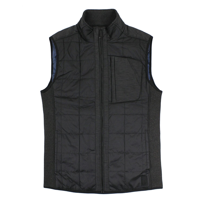 美國百分百【全新真品】Calvin Klein 背心 上衣 鋪棉 黑 口袋 防風 防寒 保暖 男 M號 E400