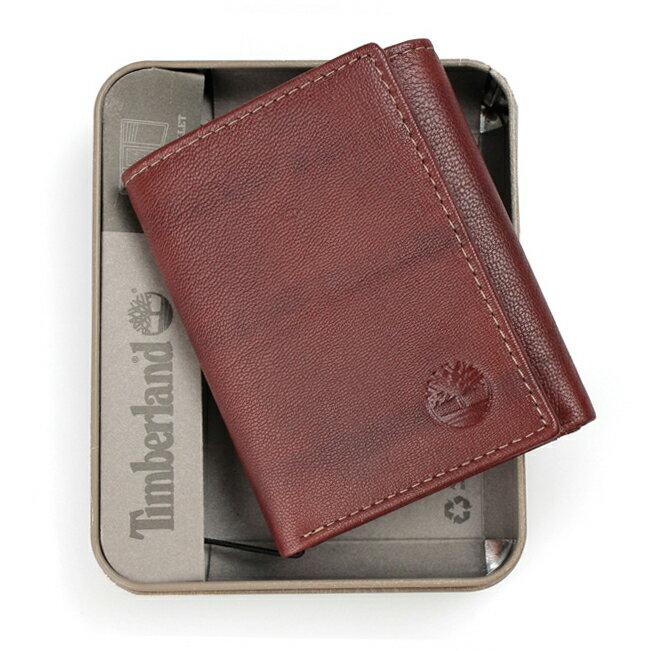 美國百分百【全新真品】Timberland 皮夾 短夾 錢包 皮包 咖啡 真皮 經典 證件 鈔票夾 三摺 男用 B383
