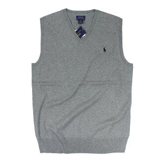 美國百分百【全新真品】Ralph Lauren 背心 RL polo 小馬 毛衣 線衫 針織 灰色 XS S號 A110