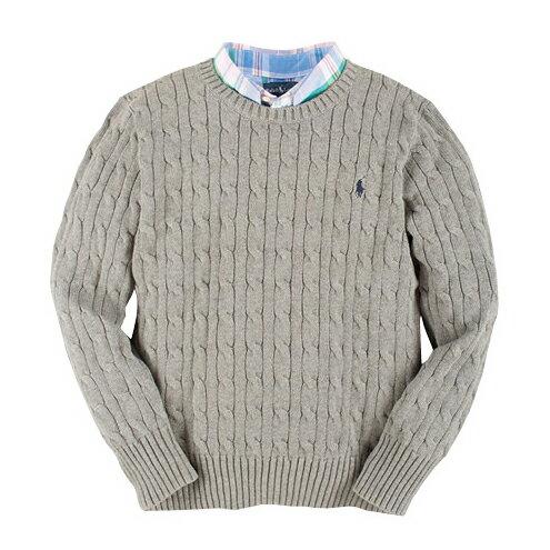 美國百分百【全新真品】Ralph Lauren 針織衫 RL polo 小馬 毛衣 線衫 灰色 XS S號 C459