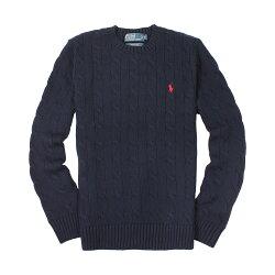 美國百分百【全新真品】Ralph Lauren 針織衫 RL polo 小馬 毛衣 線衫 深藍色 XS S號 C459