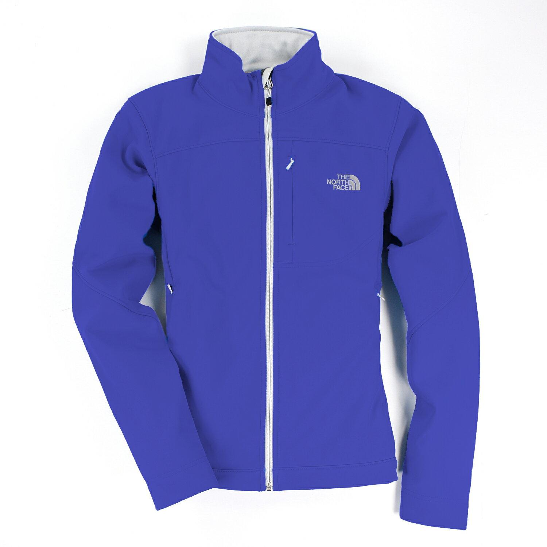 美國百分百【The North Face】女衣 保暖 登山 防風 外套 防水 軟殼 夾克 藍 紫 S M L號 E404