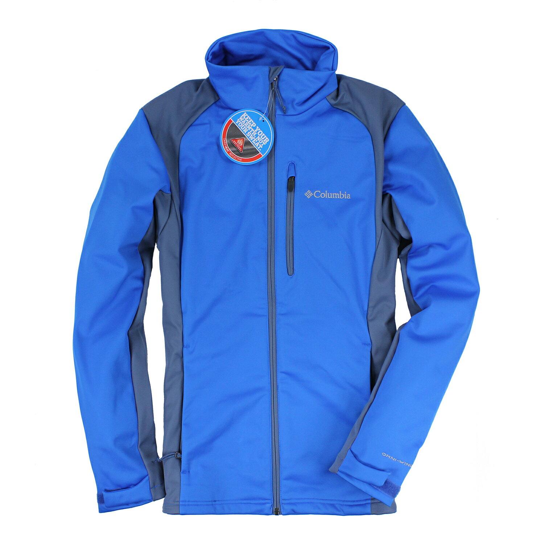 美國百分百【全新真品】Columbia 外套 哥倫比亞 發熱衣 Omni heat 軟殼 保暖 藍 灰 M L E411