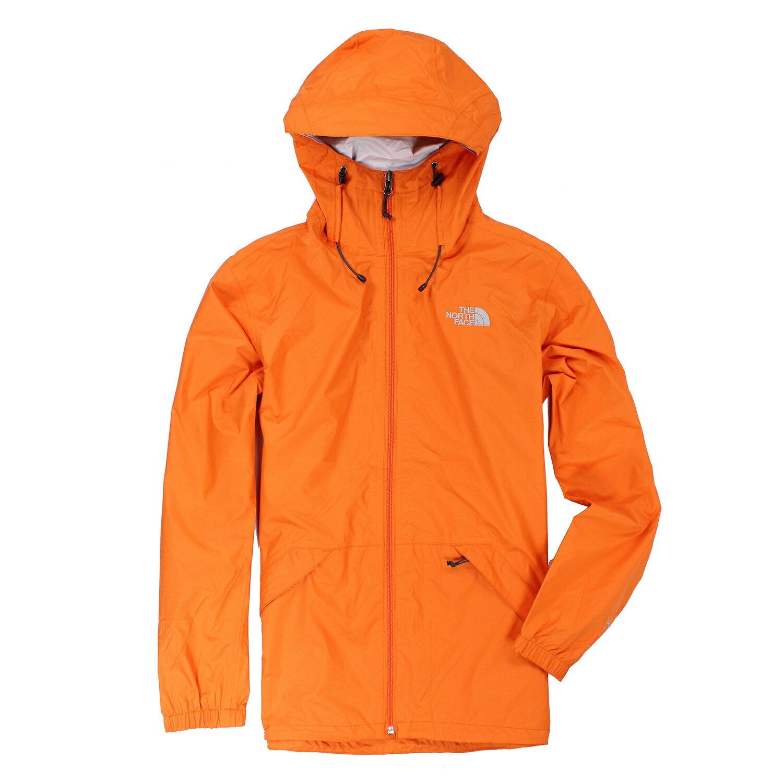 美國百分百【全新真品】The North Face 外套 TNF 北臉 防雨 多功能 防風 防水 橘色 S E415