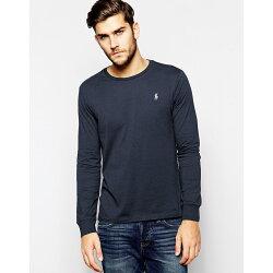 美國百分百【全新真品】Ralph Lauren T恤 RL T-shirt 素面 小馬 長袖 麻灰 M L XL XXL