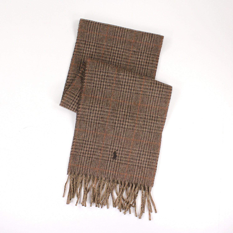 美國百分百【全新真品】Ralph Lauren 圍巾 RL 配件 咖啡 男 女 Polo 小馬 羊毛 格紋 E445
