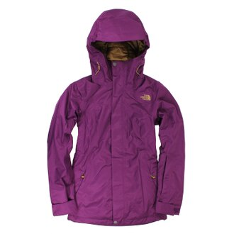 美國百分百【全新真品】The North Face 外套 TNF 夾克 防水 防風 滑雪 北臉 紫 女 XS E447