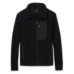 美國百分百【全新真品】Calvin Klein 外套 CK 夾克 刷毛 立領 騎士 保暖 中空纖維 黑 男 S E449