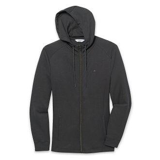 美國百分百【全新真品】Calvin Klein 外套 CK 夾克 薄 連帽 合身 黑色 男 S M L號 E450