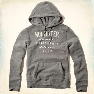 美國百分百【全新真品】Hollister Co. HCO 海鷗 外套 夾克 連帽 長袖 上衣 灰 M L號 男 E455
