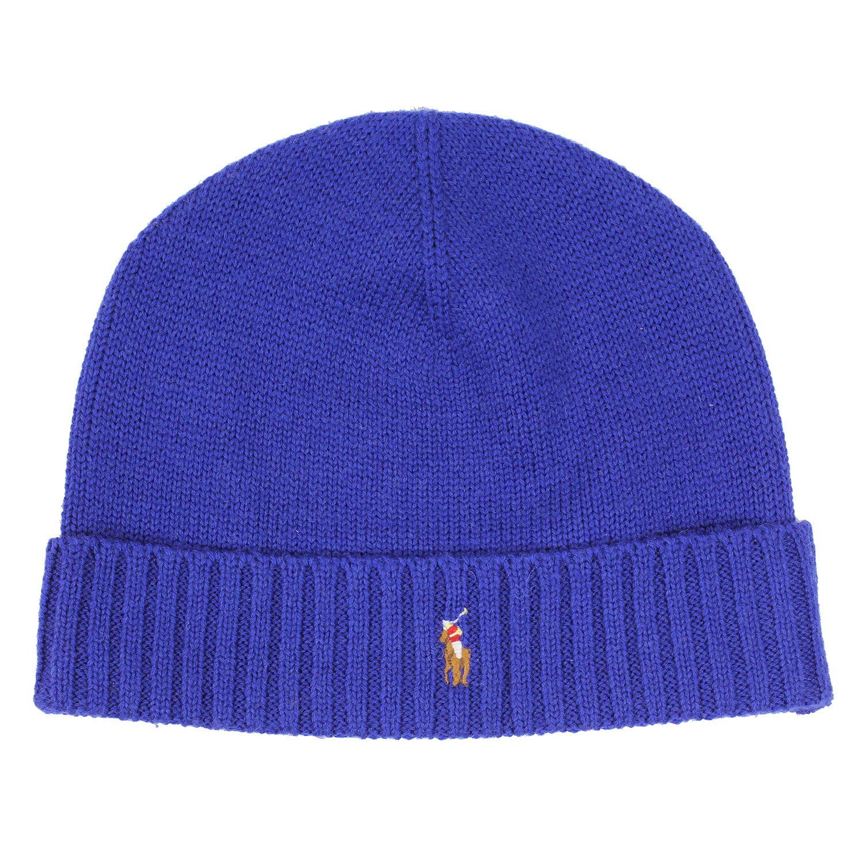 美國百分百【全新真品】Ralph Lauren 彩馬 羊毛 毛線帽 針織 毛帽 配件 RL Polo 寶藍 B351