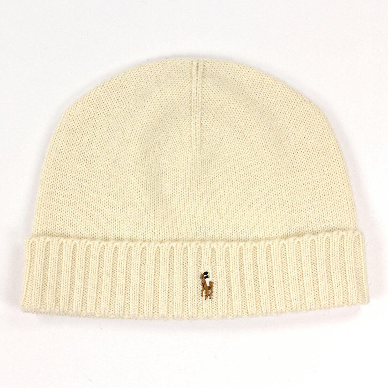 美國百分百【全新真品】Ralph Lauren 彩馬 羊毛 毛線帽 針織 毛帽 配件 RL Polo 米色 白 B351