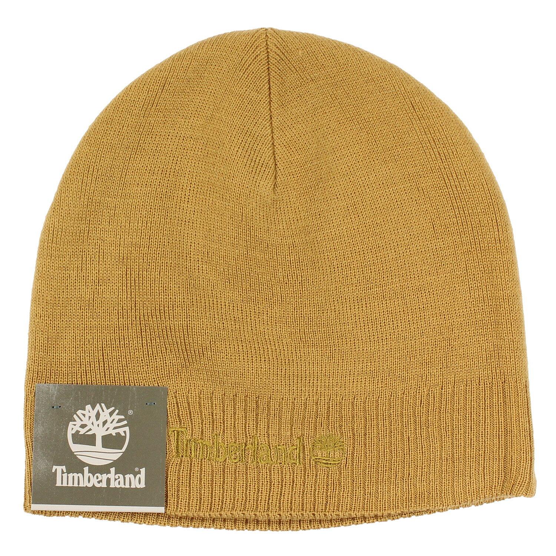 美國百分百【全新真品】Timberland 帽子 配件 針織帽 毛帽 駝色 素面 男 女 反折 logo 刺繡 C478