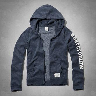 美國百分百【全新真品】Abercrombie & Fitch 外套 AF 連帽 長袖 夾克 麋鹿 藏藍 S 女 E472