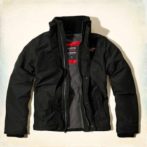 美國百分百【全新真品】Hollister Co. HCO 海鷗 男 深藍 休閒 鋪棉 保暖 立領 外套 S號 E492