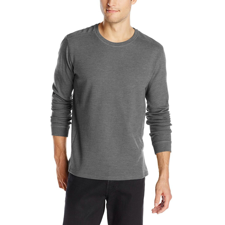 美國百分百【全新真品】Calvin Klein 針織衫 CK 長袖 T恤 上衣 灰色 素面 圓領 S M號 E502