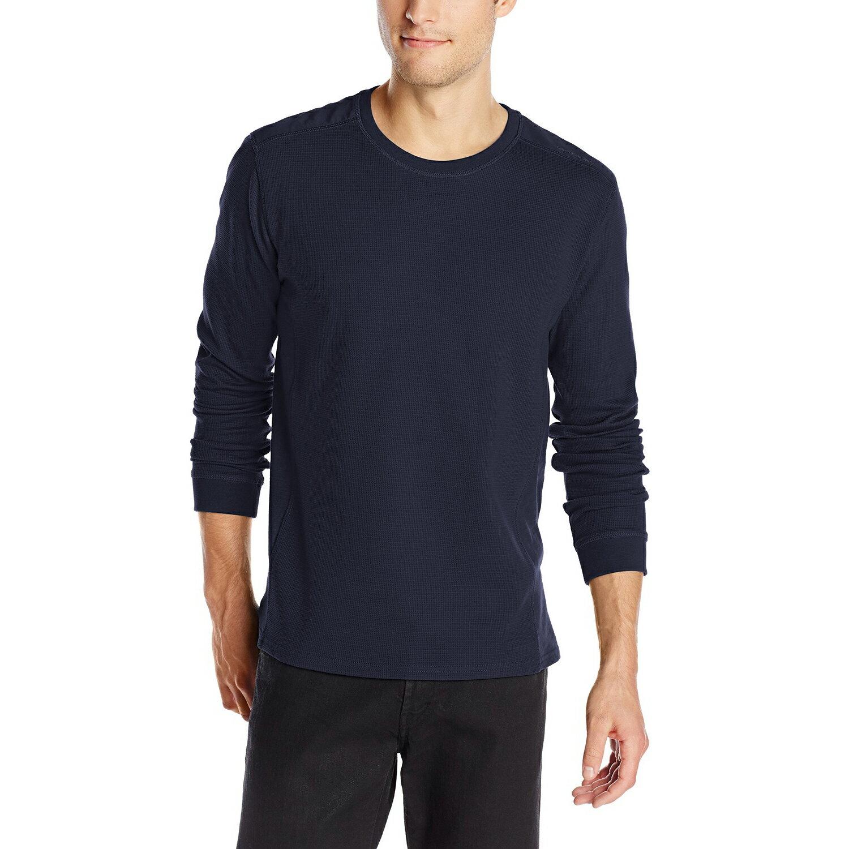 美國百分百【全新真品】Calvin Klein 針織衫 CK 長袖 T恤 上衣 深藍 素面 S M L XXL E502