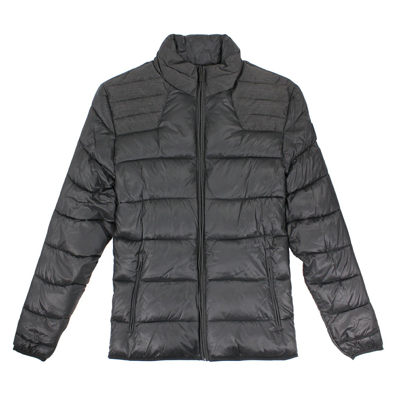 美國百分百【全新真品】Calvin Klein 外套 CK 夾克 防寒 保暖 外衣 防風 黑色 男 S M L E506