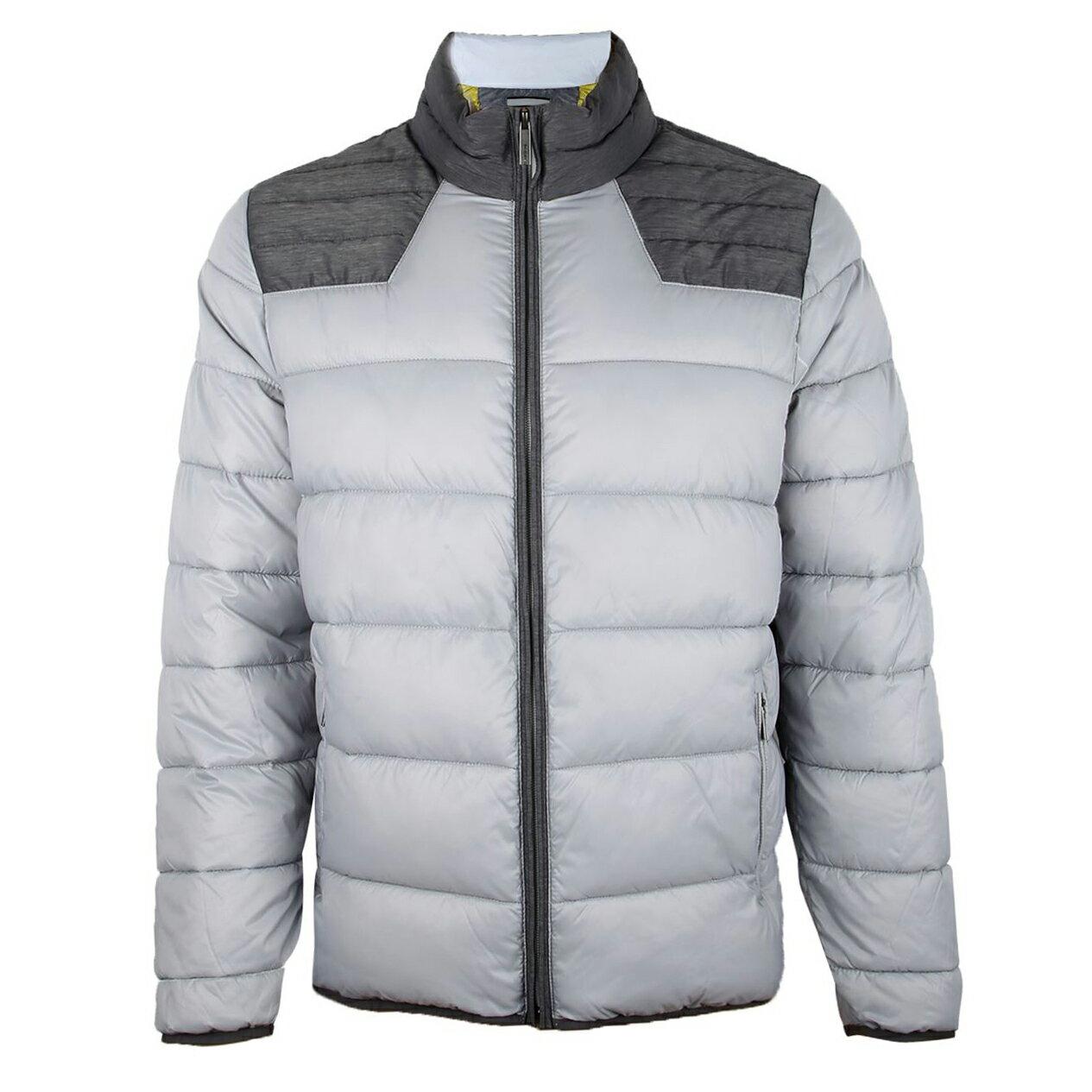 美國百分百【全新真品】Calvin Klein 外套 CK 夾克 防寒 保暖 外衣 輕量 防風 灰色 男 M號 E506