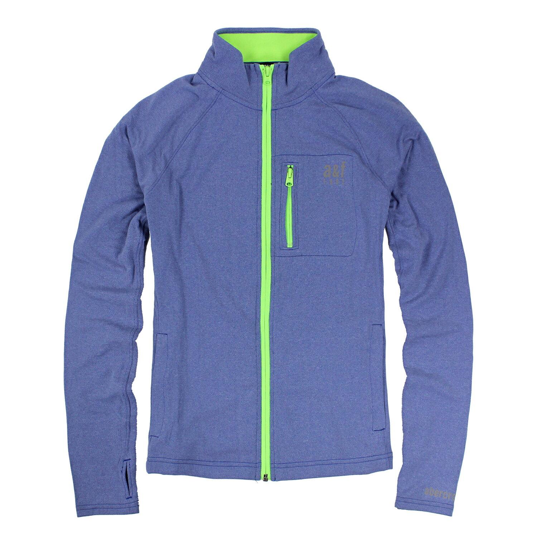美國百分百【Abercrombie & Fitch】外套 AF 排汗衫 夾克 T恤 運動 慢跑 男 XL E508