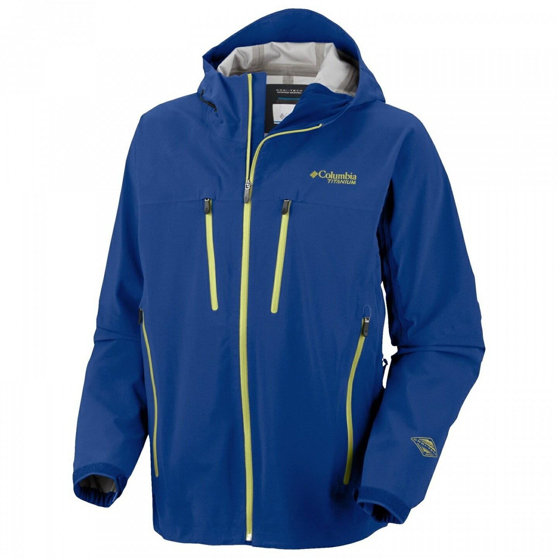 美國百分百【全新真品】Columbia 外套 哥倫比亞 連帽 防水 防風 快乾 軟殼 保暖 藍色 男 XL號 E520