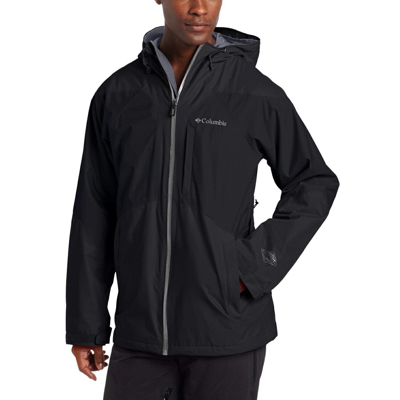 美國百分百【全新真品】Columbia 外套 哥倫比亞 連帽 防水 防風 快乾 輕量 發熱 黑色 男 S號 E521