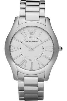 美國百分百【Emporio Armani】配件 手錶 腕錶 男錶 石英 品味 時尚 不鏽鋼 老鷹 銀色 E529
