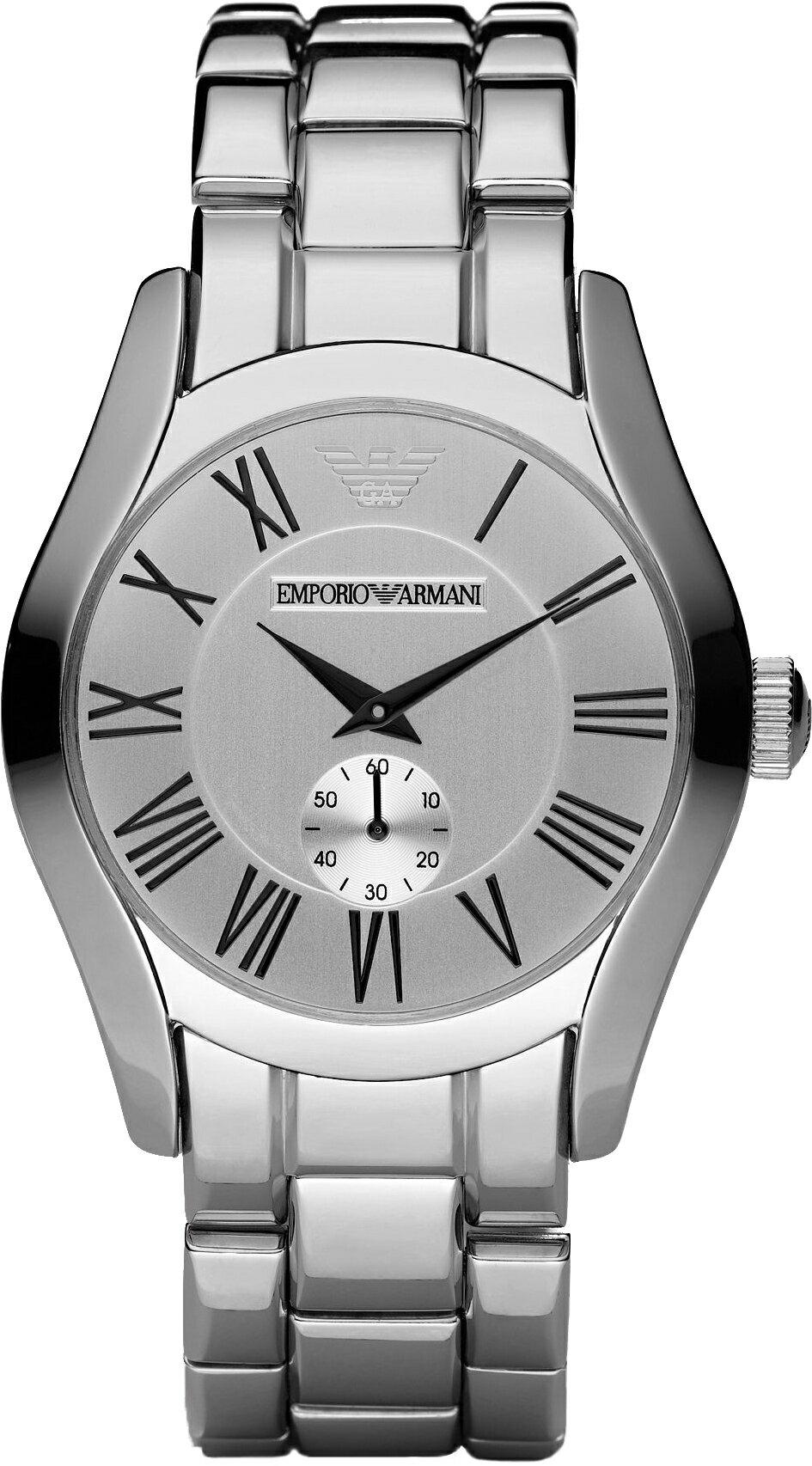 美國百分百【Emporio Armani】配件 手錶 腕錶 男錶 石英 品味 時尚 不鏽鋼 老鷹 計時 銀色 E530