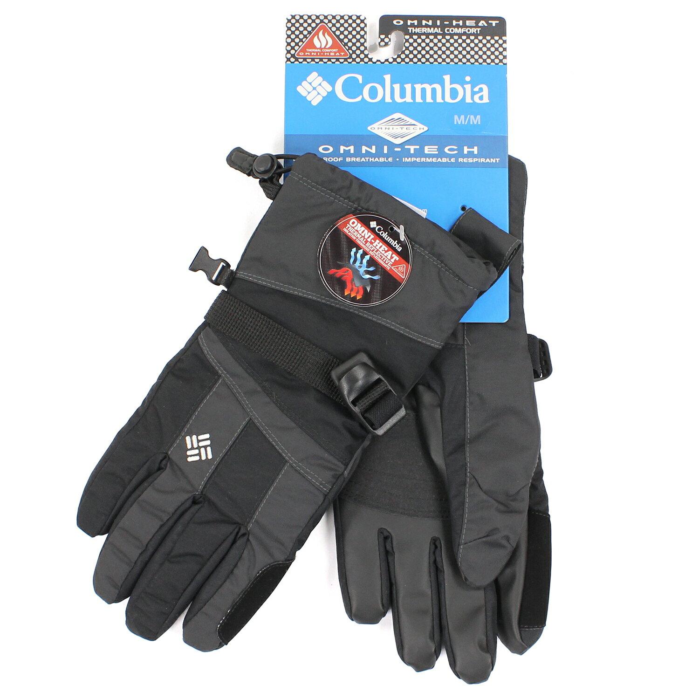 美國百分百【全新真品】Columbia 手套 配件 黑色 保暖 防水 防寒 登山 滑雪 Omni-Heat M E567