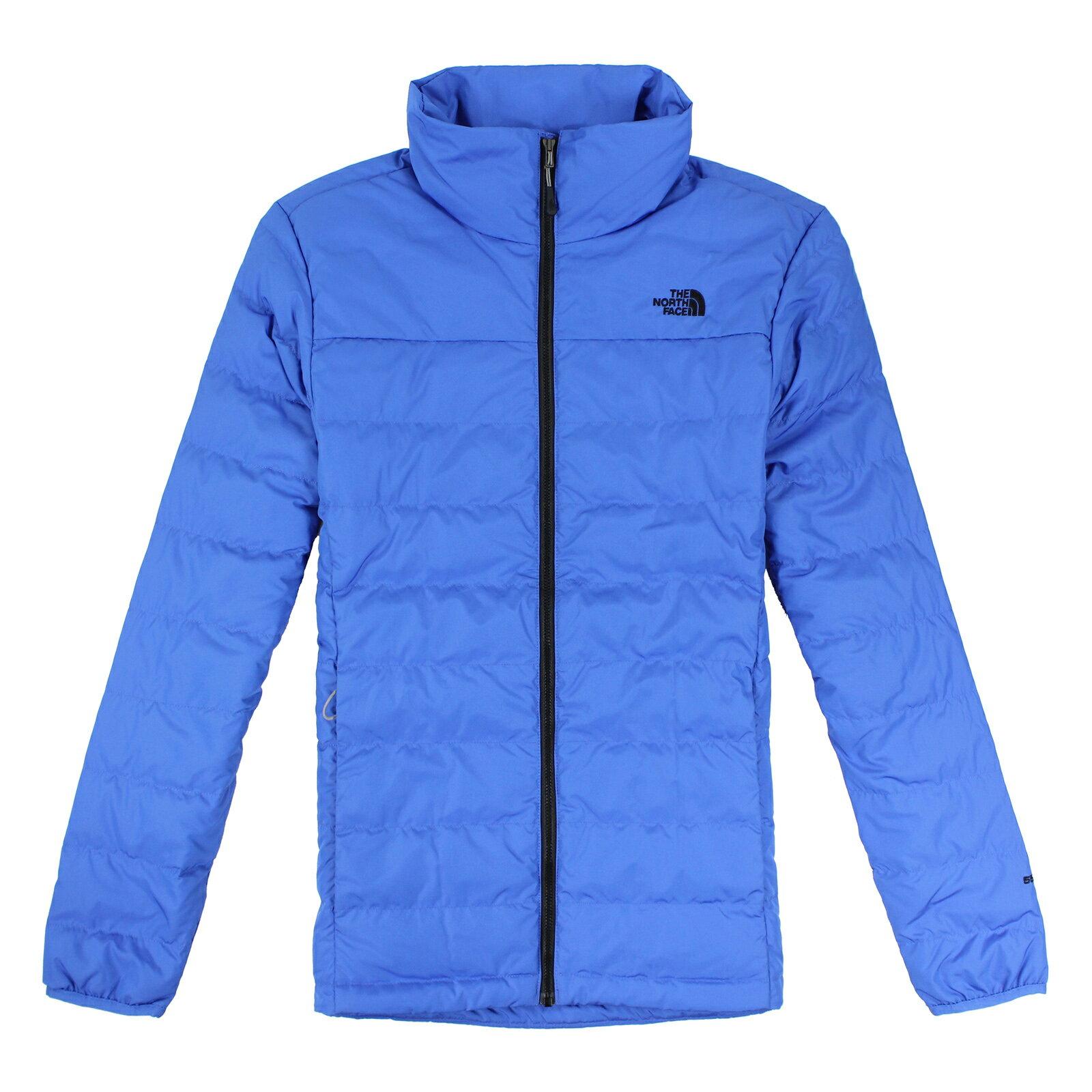 美國百分百【全新真品】The North Face 外套 TNF 羽絨 北臉 藍色 550 保暖 男 S號 E484