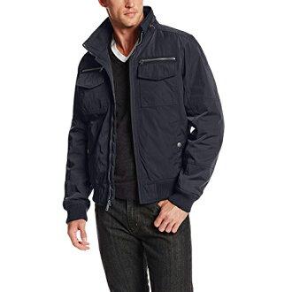 美國百分百【全新真品】Tommy Hilfiger 外套 收納帽 騎士 TH 夾克 大衣 風衣 深藍 M L號 E582