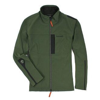 美國百分百【全新真品】Timberland 軟殼 夾克 防水防風 運動 男衣 外套 綠色 XL號 C062