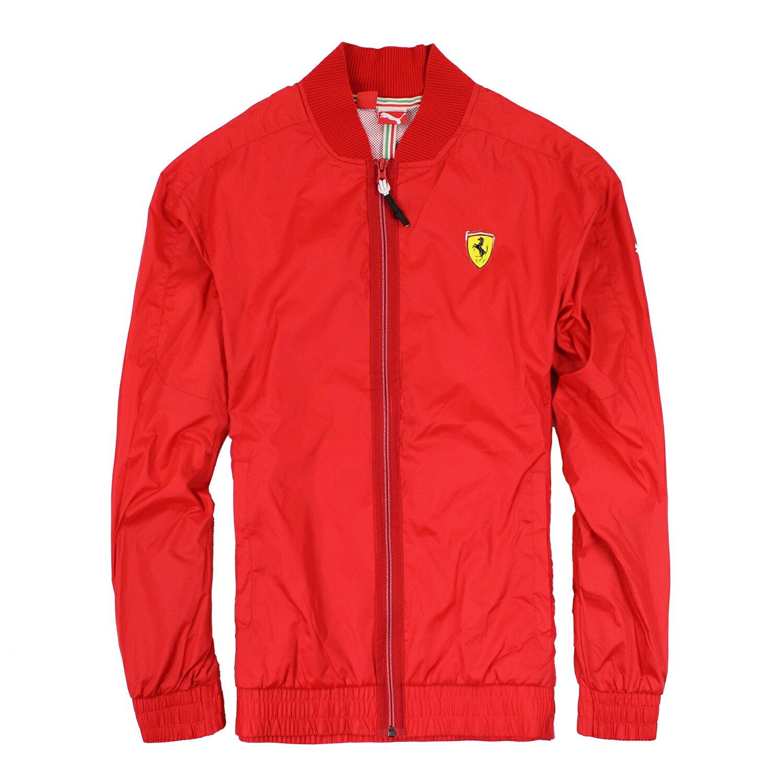 美國百分百【全新真品】Puma Ferrari 法拉利 男衣 外套 賽車 車隊 夾克 風衣 紅 M號 E640